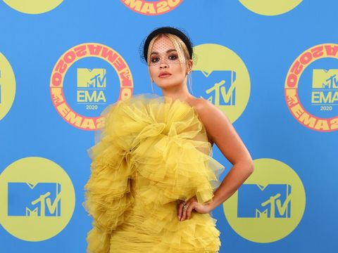 LONDON, ENGLAND - NOVEMBER 01: (EDITORS NOTE: This image has been retouched at the request of Artist's management.) In this image released on November 08, Rita Ora poses ahead of the MTV EMA's 2020 on November 01, 2020 in London, England. The MTV EMA's aired on November 08, 2020. (Photo by Tim P. Whitby/Getty Images for MTV)