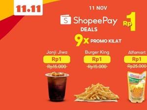 Kampanye ShopeePay Deals Rp 1 Lebih Meriah di 11 November