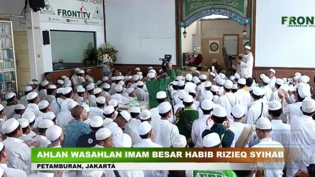 Habib Rizieq kumpul-kumpul