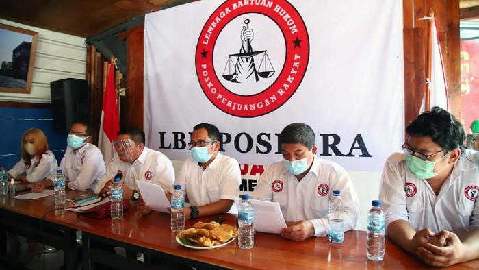 Posko Perjuangan Rakyat (Pospera) gelar konferensi pers di Jakarta, Senin (9/11/2020). Pospera minta Jubir Kementerian BUMN, Arya Sinulingga meminta maaf.