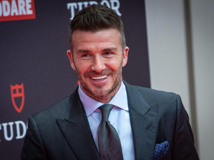 MADRID, SPAIN - APRIL 29: David Beckham presents Tudor New Collection at Hotel VP Plaza España Design on April 29, 2019 in Madrid, Spain. (Photo by Pablo Cuadra/Getty Images)
