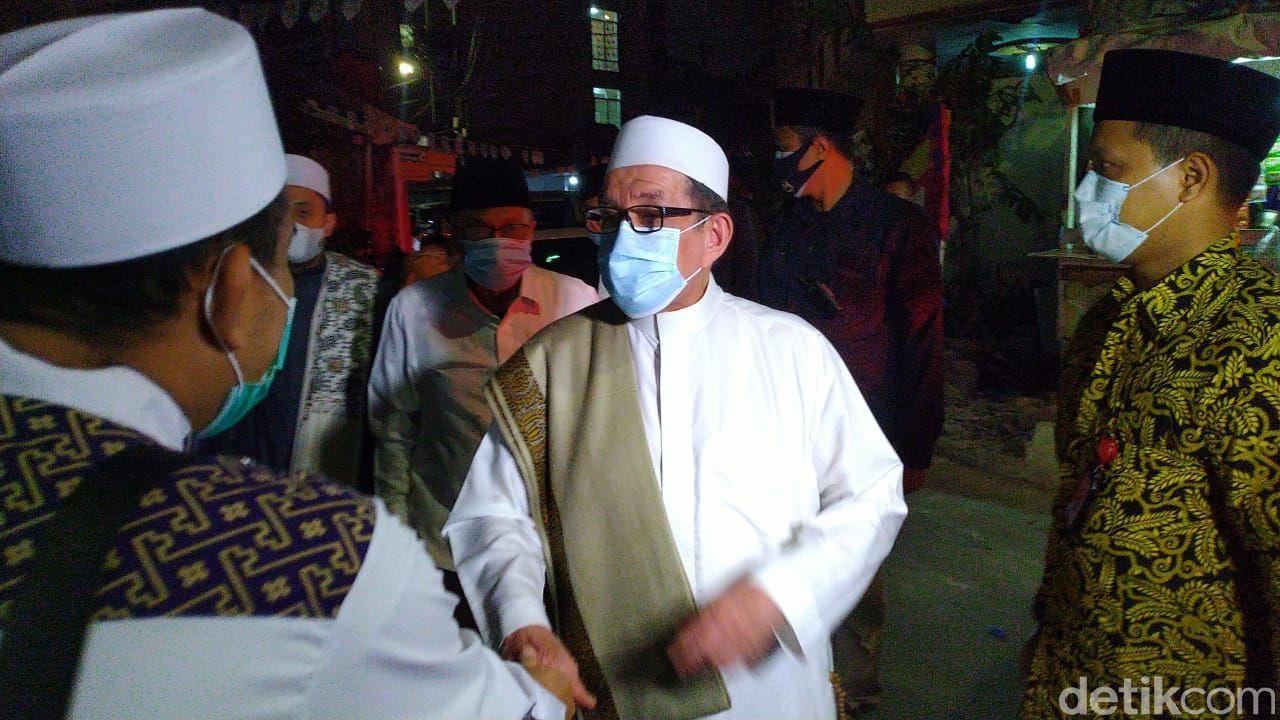 Elite PKS bertamu ke kediaman Habib Rizieq Syihab. (Sachril Agustin Berutu/detikcom)