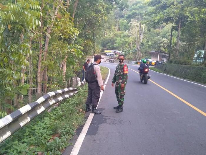 Lokasi penemuan mayat di Karangsari, Patuk, Gunungkidul