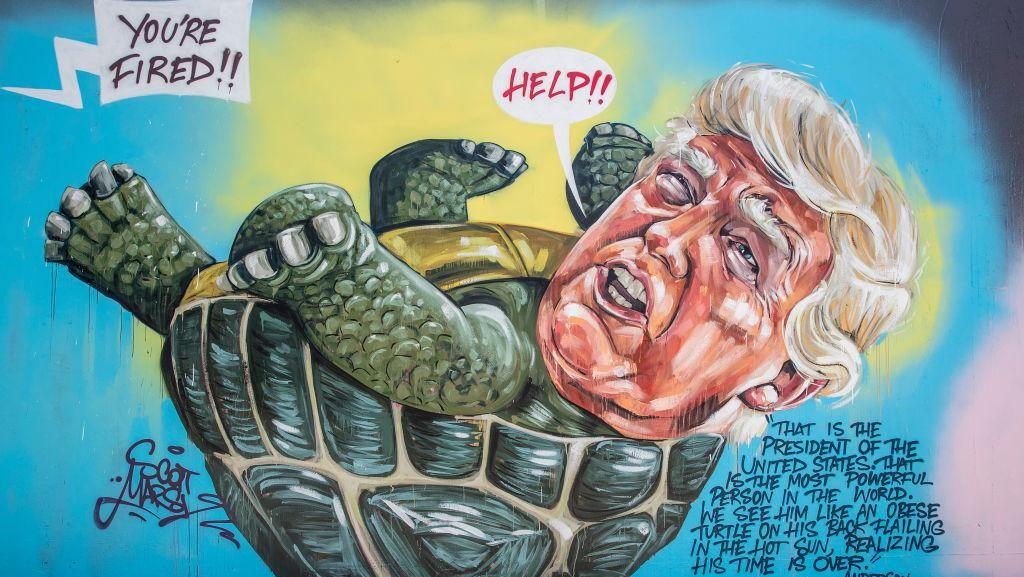 Mural Trump Jadi Kura-Kura Mejeng di Jalanan Sydney