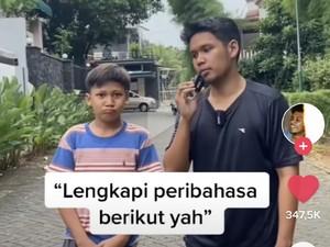 Pria Viral karena Tes Anak-anak SD Soal Peribahasa, Hasilnya Bikin Emosi