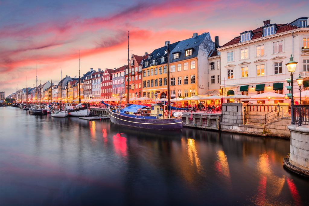 Copenhagen, Denmark on the Nyhavn Canal.