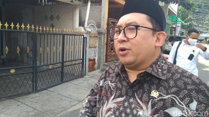 Fadli Zon di Petamburan (Adhyasta Dirgantara/detikcom).