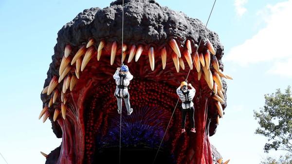 Bintang atraksi baru ini adalah Godzilla raksasa. Memiliki tinggi 20 meter, lebar 25 meter, dan panjang 55 meter lokasinya ada di jantung taman.