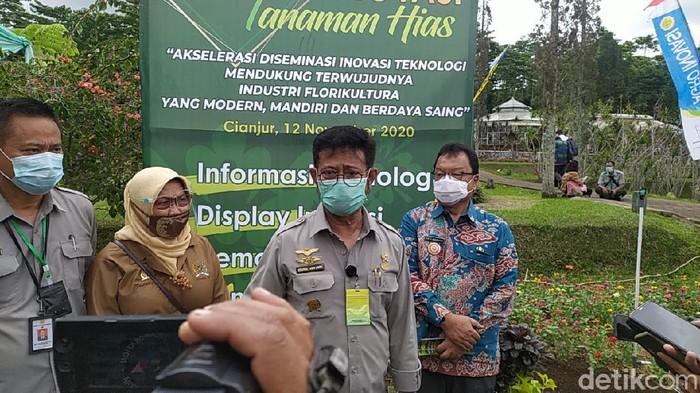 Menteri Pertanian Syahrul Yasin Limpo di Cianjur.