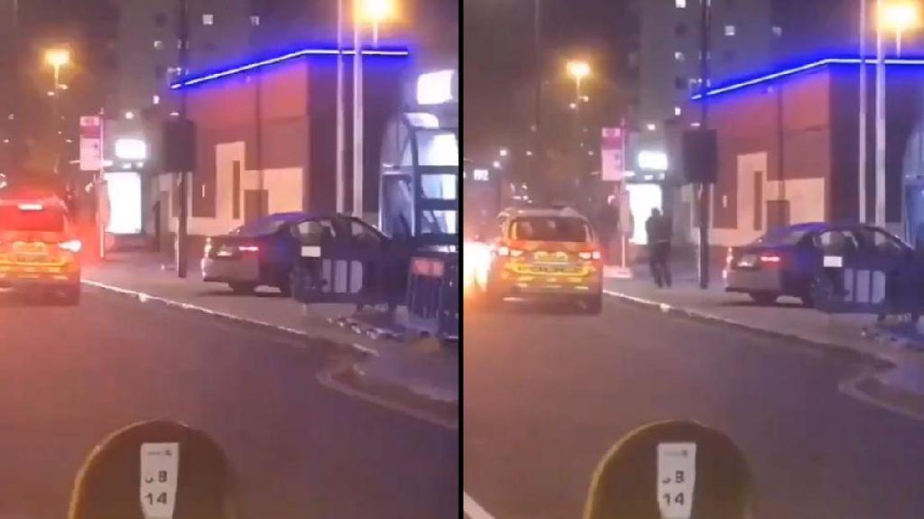 Mobil Seruduk Kantor Polisi di London