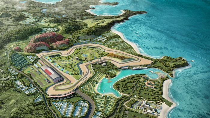 Render sirkuit Mandalika yang rencananya akan jadi venue MotoGP Indonesia di MotoGP 2021. (Foto: Dok. MGPA)