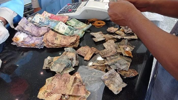 uang rusak (Sylke Febrina Laucereno-detikcom)
