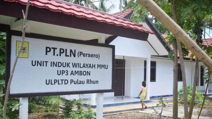 Bangunan ULPLTD milik PT PLN (Persero) di Desa Pulau Rhun, Kecamatan Banda, Provinsi Maluku, Kamis (12/11/2020). (ANTARA/Fauzi Lamboka)