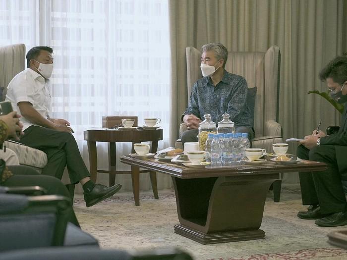 Dubes AS untuk Indonesia Sung Yong Kim bertemu Kepala Staf Kepresidenan Moeldoko.