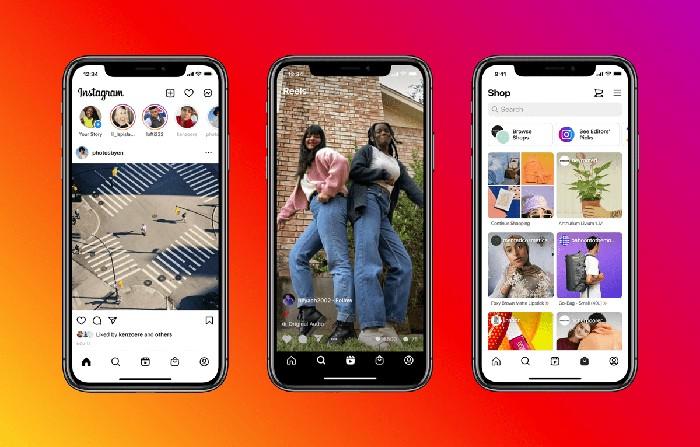Desain baru aplikasi Instagram