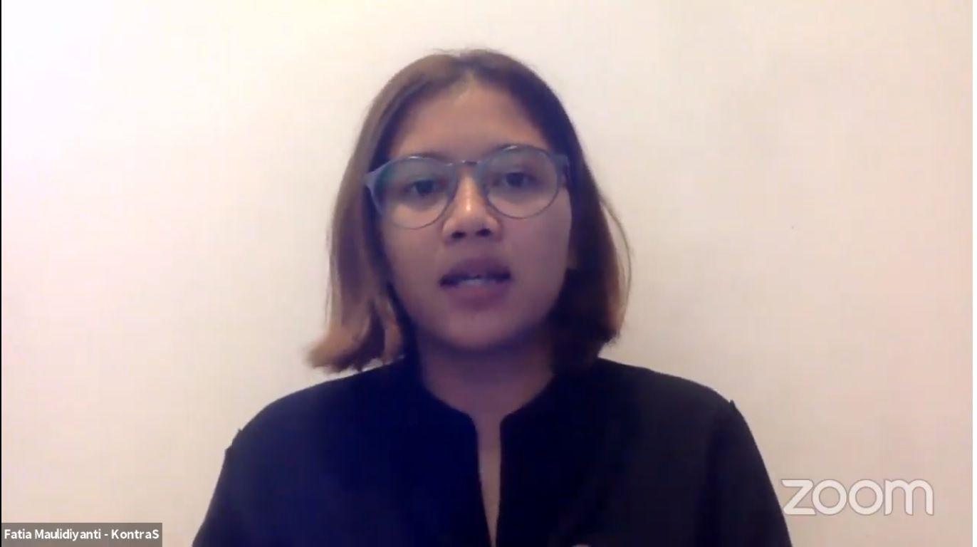 Koordinator KontraS Fatia Maulidiyanti