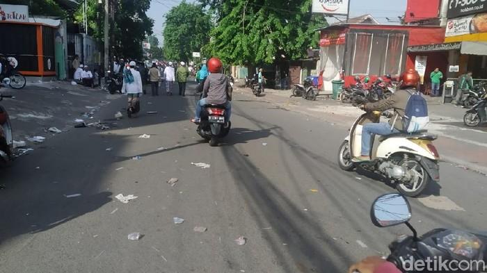 Lalin di Jalan Tebet Raya kembali lancar usai Maulid Nabi (Luqman Nurhadi/detikcom).