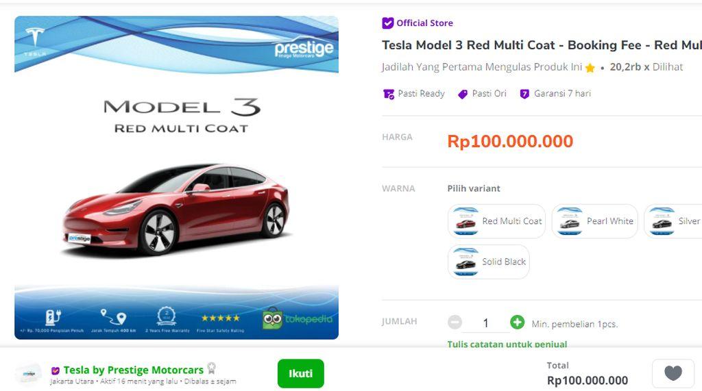 Crazy Rich Medan Iseng Beli Tesla Rp 1,5 M karena Insomnia