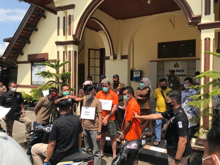 Polres Bukittinggi gelar rekonstruksi pengeroyokan 2 prajurit TNI oleh anggota klub moge Harley (dok Istimewa)