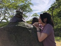 Di taman rekreasiNijigen no Mori ini juga ada para kodok, guru Naruto.Fukasaku ini adalah katak ahli senjutsu.