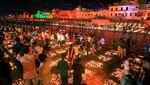India Kembali Pecahkan Rekor Dunia Lampu Terbanyak di Festival Diwali