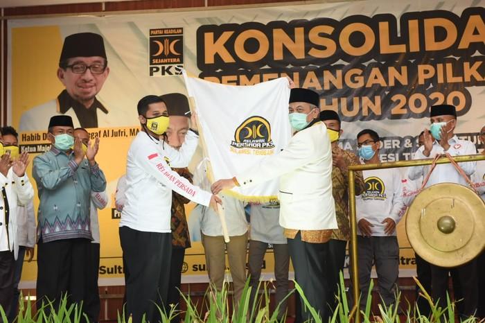 Presiden PKS Ahmad Syaikhu meminta seluruh SDM di Sultra memenangkan calon yang diusung di Pilkada 2020 (dok Istimewa)