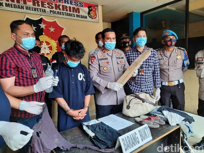 Pria di Medan nekat membakar orang hidup-hidup gegara sakit hati (Haris Fadhil/detikcom)