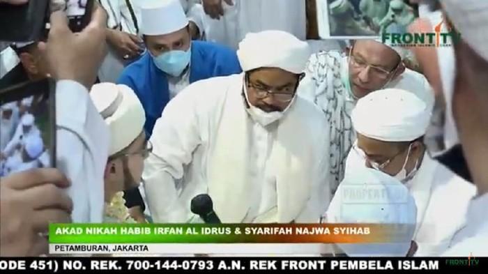 Prosesi akad nikah putri Habib Rizieq
