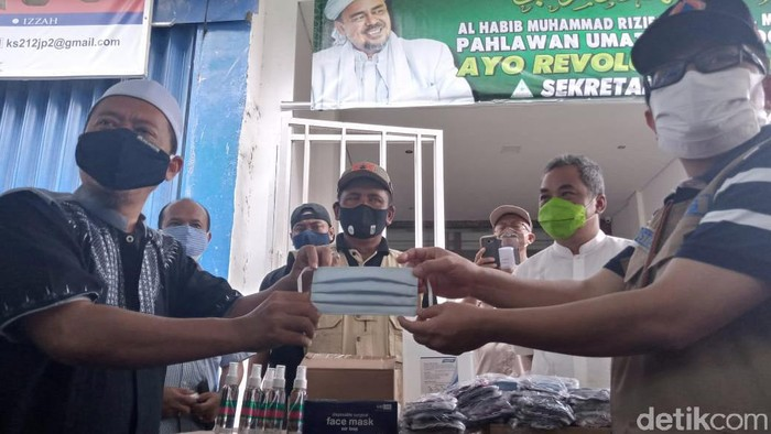 Satgas COVID-19 Kirim bantuan untuk Maulid Nabi di Kediaman Habib Rizieq