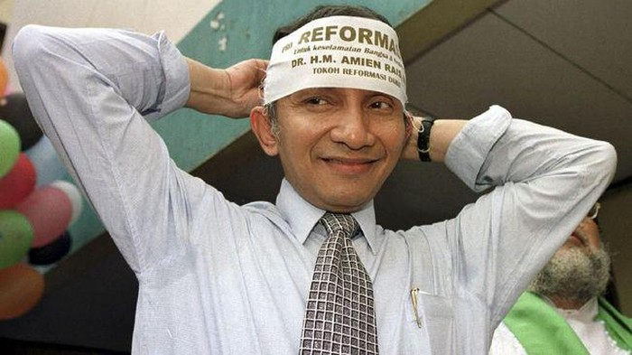 Amien Rais pada era reformasi (Reuters)