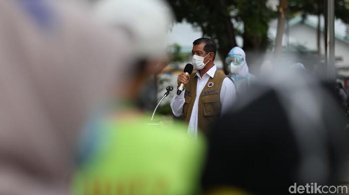 Satgas Penanganan COVID-19 memuji langkah Gubernur DKI Jakarta Anies Baswedan dan jajarannya usai jatuhkan sanksi denda administratif kepada Habib Rizieq.