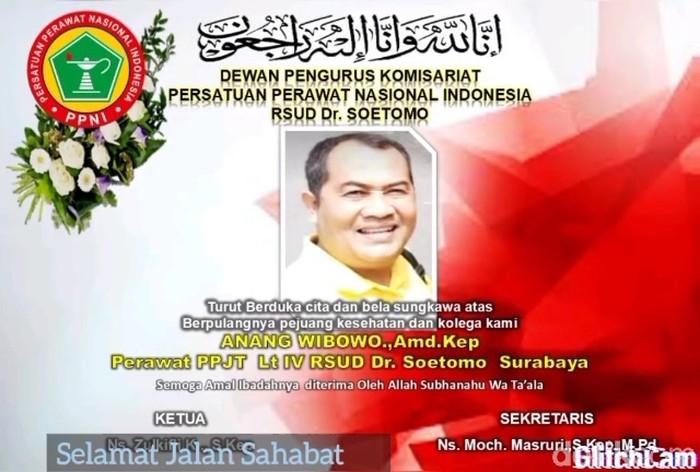 Perawat Senior RSU dr Soetomo Surabaya Meninggal Akibat COVID-19