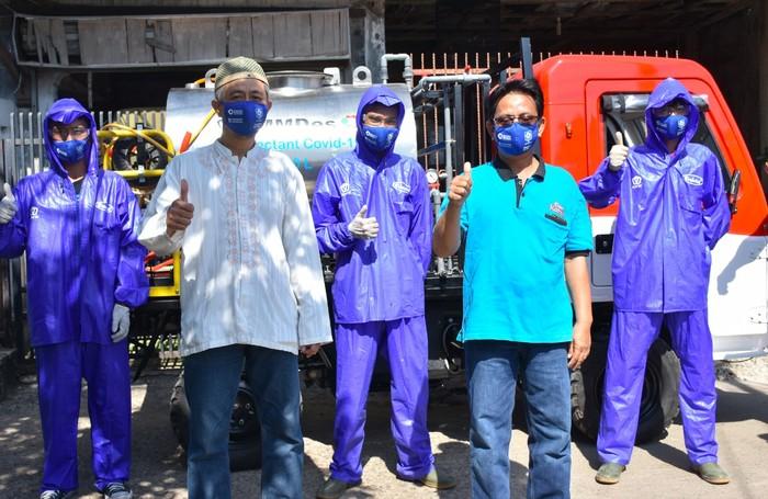 AMMDes Jadi Kendaraan Penyemprot Disinfektan