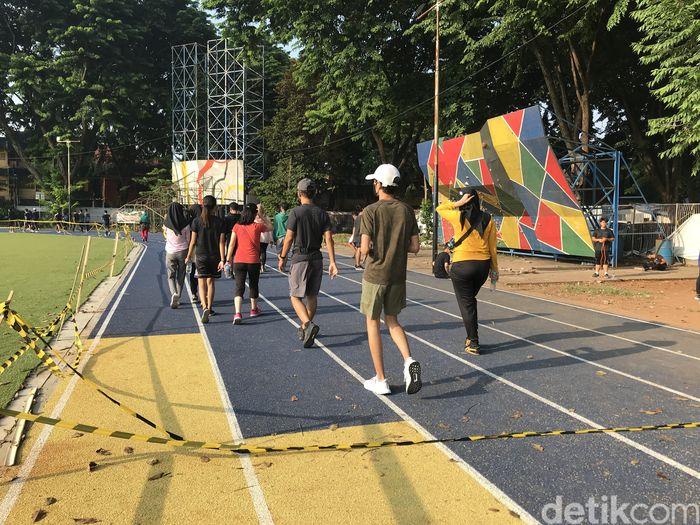 Vandalisme Jogging Track Alun-alun Tangerang