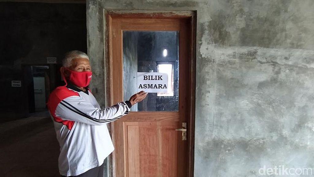 Mengintip Bilik Asmara untuk Pengungsi Gunung Merapi di Magelang