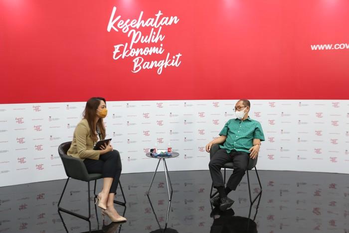 dr. I Nyoman Kandun, MPH (Direktur Field Epidemiology Training Program (FETP) menajdi pembicara dalam dialog bertema belajar dari sukses vaksin polio di Jakarta, Selasa, 17 November 2020.