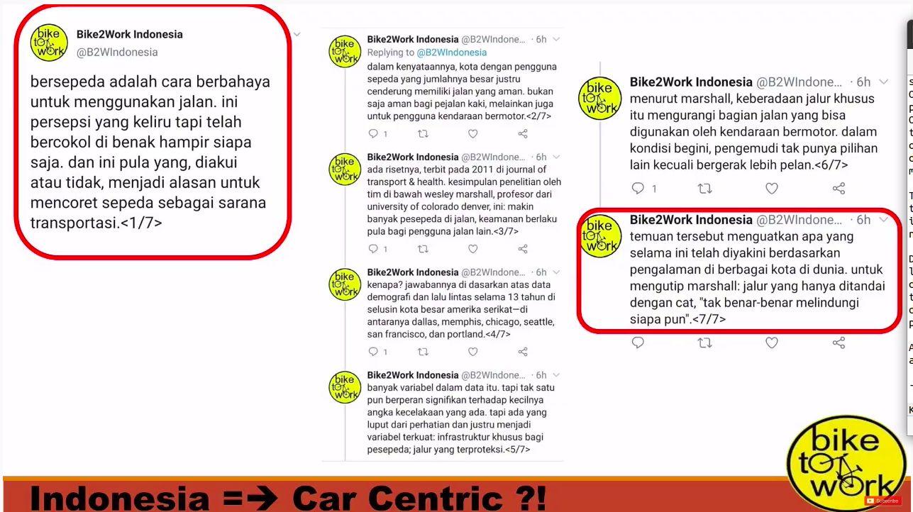 Kultwit Bike2Work Indonesia