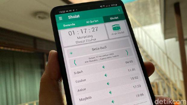 Aplikasi waktu salat buatan Samsung
