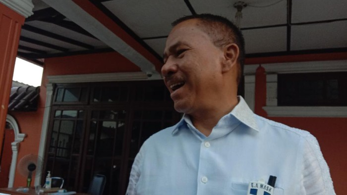 Salah satu Dewan Pembina Timses Bobby Nasution-Aulia Rachman, Maruli Siahaan (detikcom)