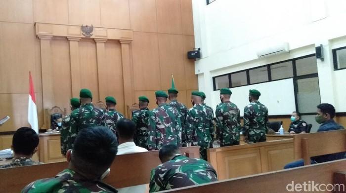 Sidang Kasus 11 Prajurit TNI Keroyok Jusni