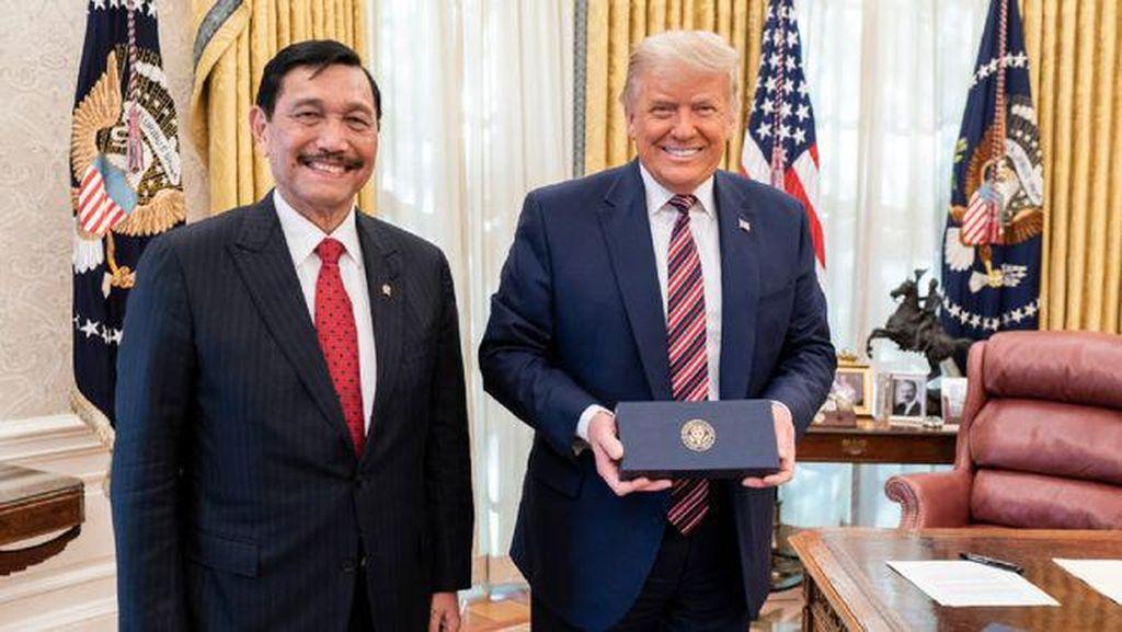 Potret Luhut saat Bertemu Trump di Gedung Putih
