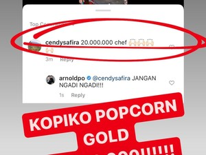 Chef Arnold Lelang Popcorn Emas Buatannya, Laku Berapa?