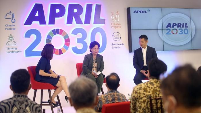 Asia Pacific Resources International Limited (APRIL) menegaskan komitmennya 'APRIL2030' untuk bertransformatif guna menyikapi perubahan iklim dengan mengurangi emisi karbon.