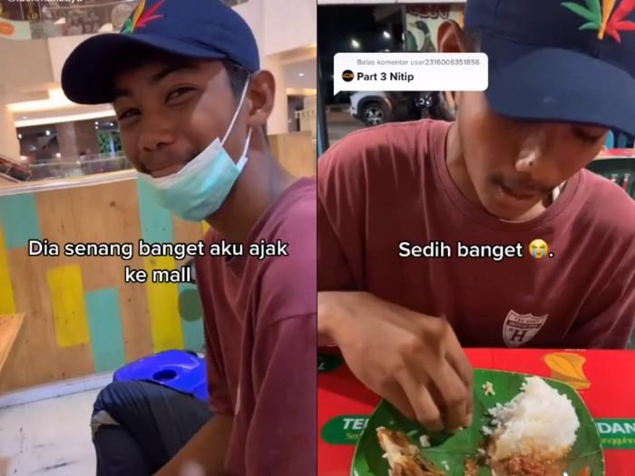 Diajak Makan di Mal untuk Pertama Kali, Lelaki Ini Nangis Terharu