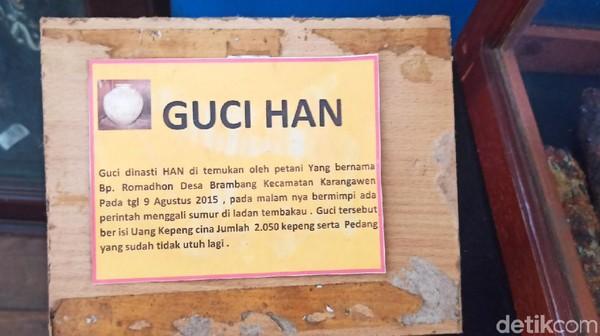 Museum Glagah Wangi juga menyimpan koleksi benda sejarah lainnya, seperti contohnya Guci Han. Museum Glagah Wangi memang menyimpan cerita sejarah Kerajaan Demak dan sebelum Kerajaan Demak, atau massa Buddha.
