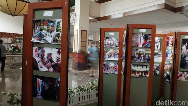 Ada sekitar 130 foto hasil buruan para fotografer dan seniman penyuka fotografi yang dikumpulkan. (Siti Fatimah/detikcom)