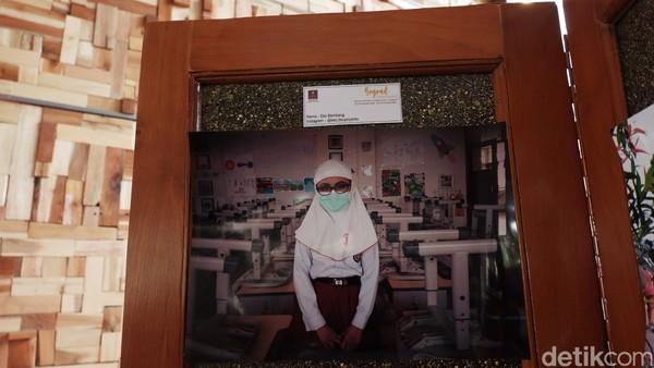 Ini adalah foto kegiatan sekolah di tengah pandemi. (Siti Fatimah/detikcom)