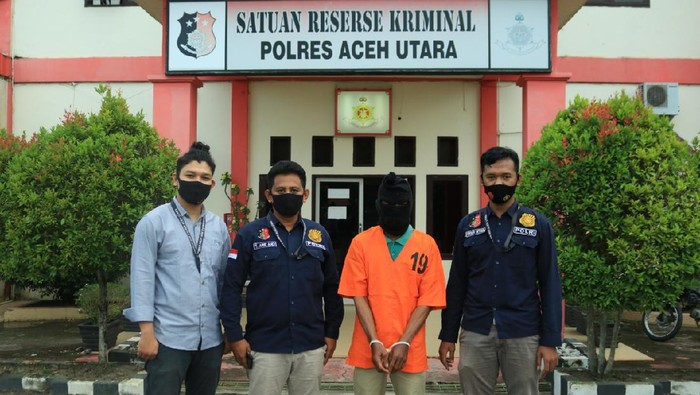 Polisi tangkap ayah bakar wajah anak di Aceh (dok. Istimewa)