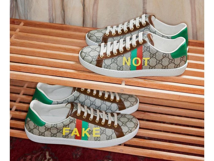 Sneakers Gucci Fake Not