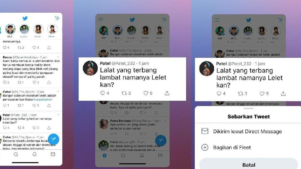 Twitter Fleets Masih Kelihatan Setelah 24 Jam Gegara Bug